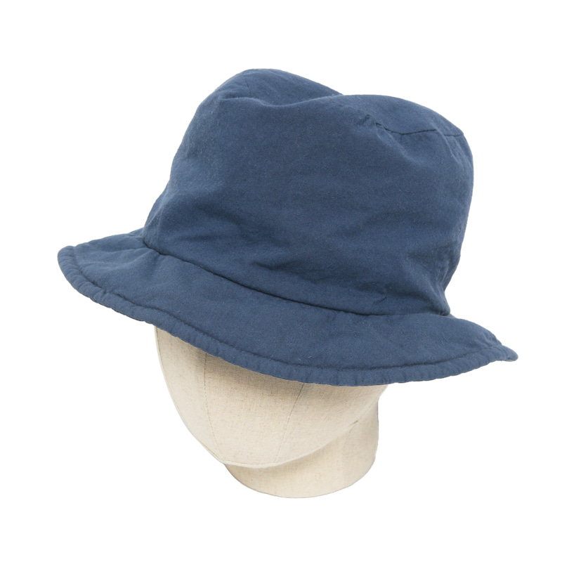 TEXTILE CLOCHE HAT - BLUE