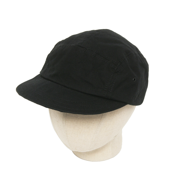 MILITARY CANVAS JET CAP - BLACK