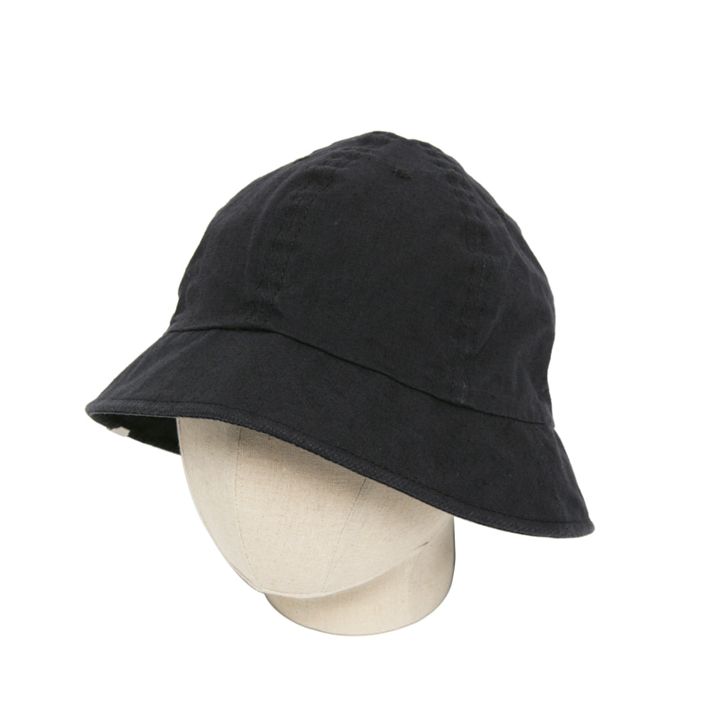 ORGANIC C/L CANVAS METRO HAT - BLACK