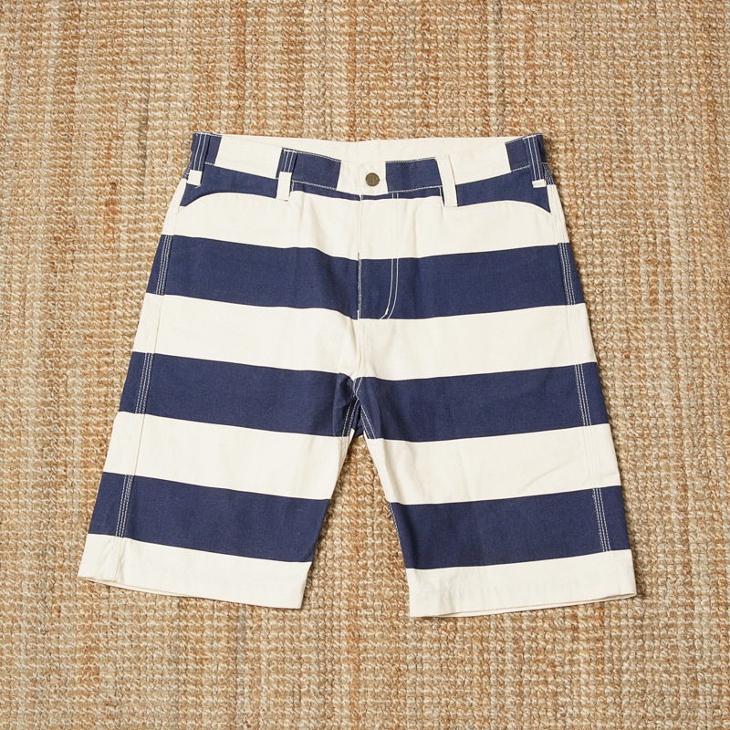 BENDAVIS PRISONER SHORTS - NAVY/OFF WHITE