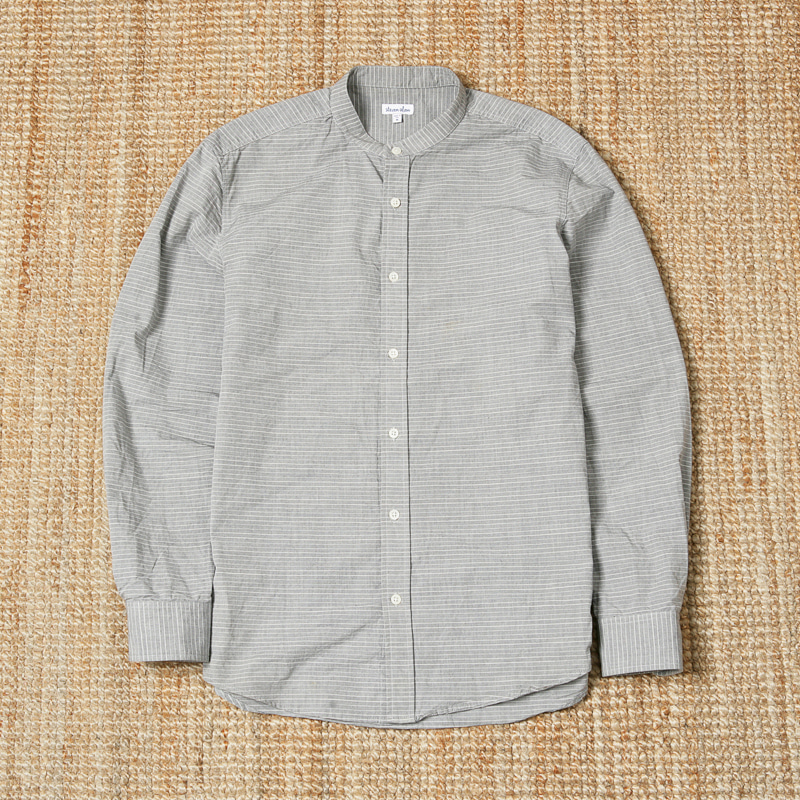 STEVEN ALAN STRIPE SHIRTS - GRAY