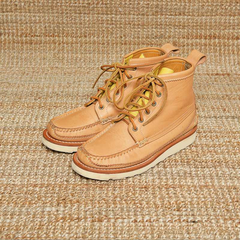 YUKETEN MAINE GUIDE BOOTS - VEGETABLE LEATHER