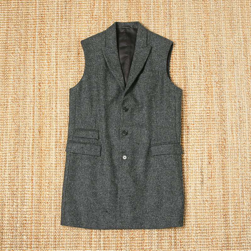 NEIL BARRETT WOOL SLEEVELESS JACKET