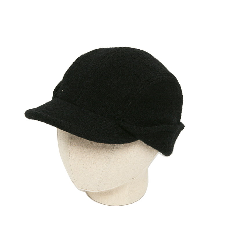 CAHORS BOILED WOOL HAT - BLACK