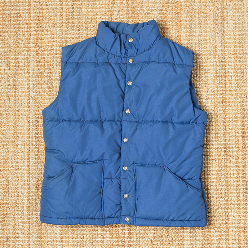 THE NORTH FACE DOWN VEST - BLUE