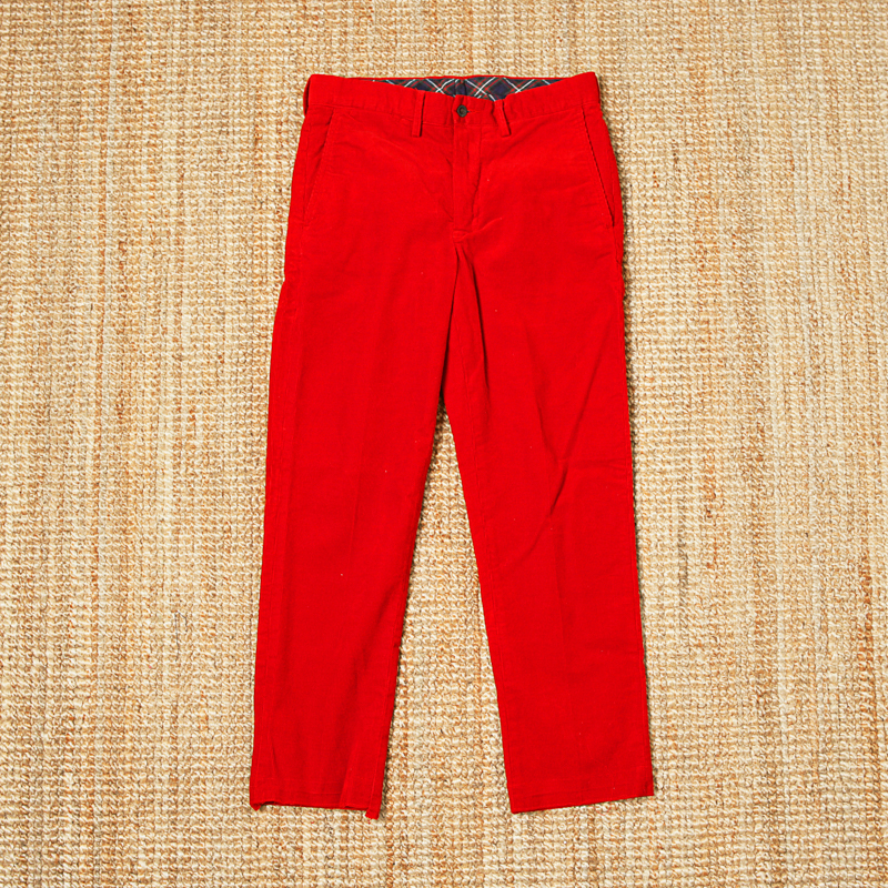 RUGBY CORDUROY PANTS - RED