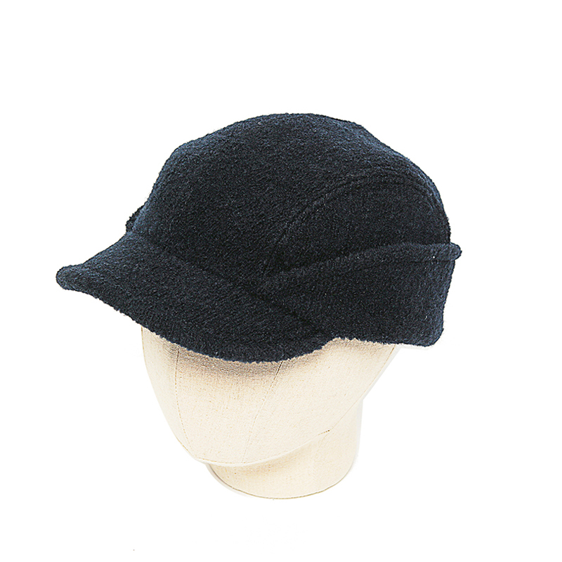 CAHORS BOILED WOOL HAT - NAVY