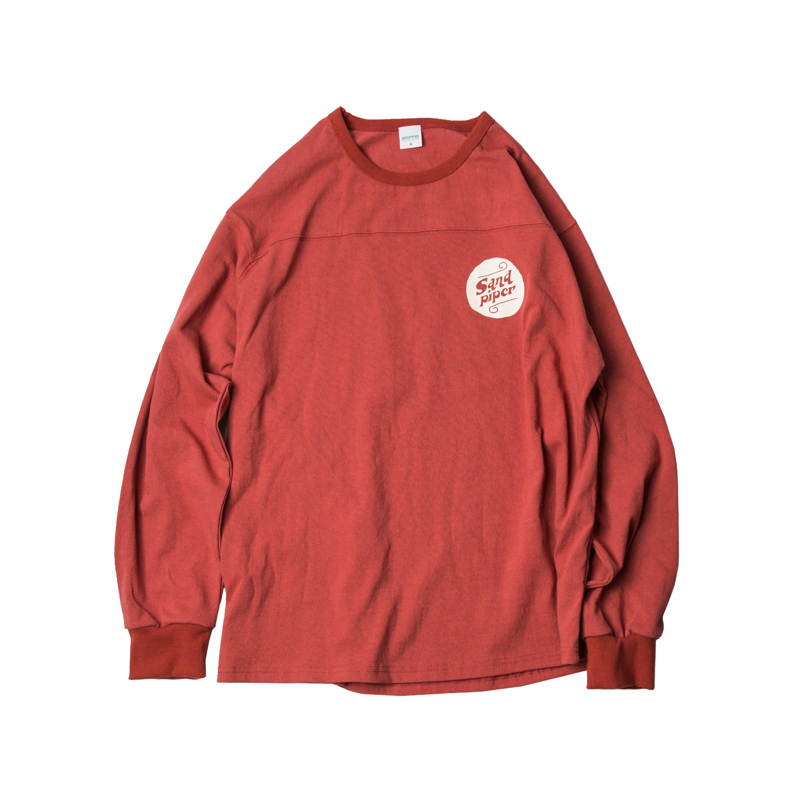 AUTHENTIC LOGO LS T SHIRTS - BURGUNDY