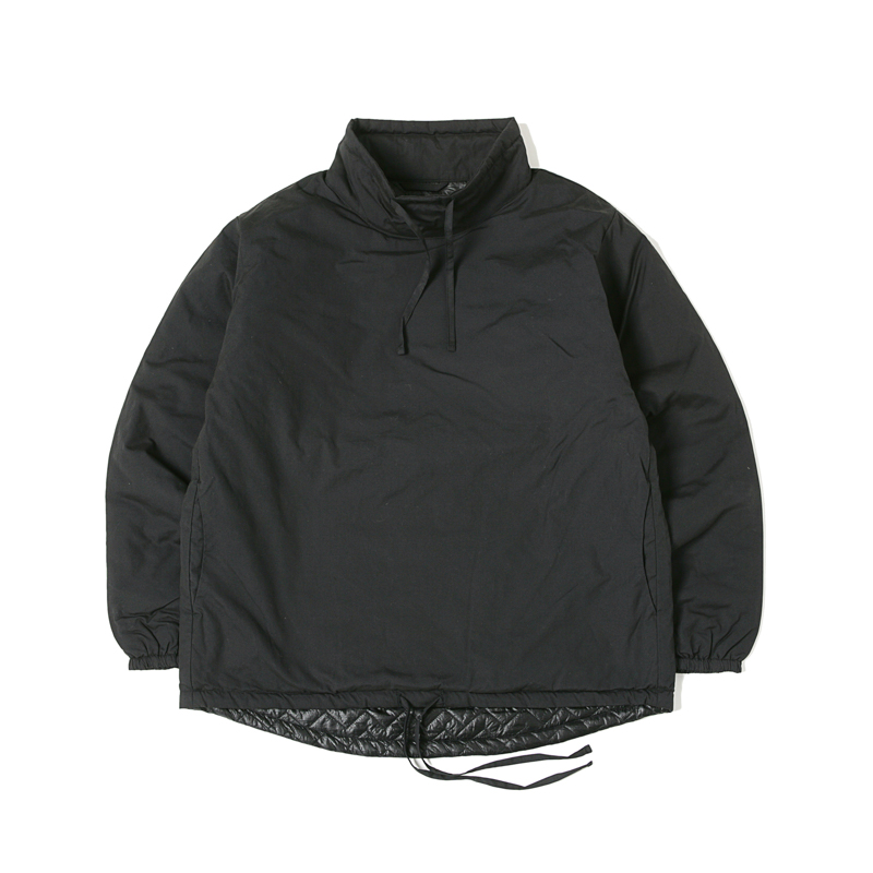 INSULATED MOCK NECK PULLOVER - BLACK