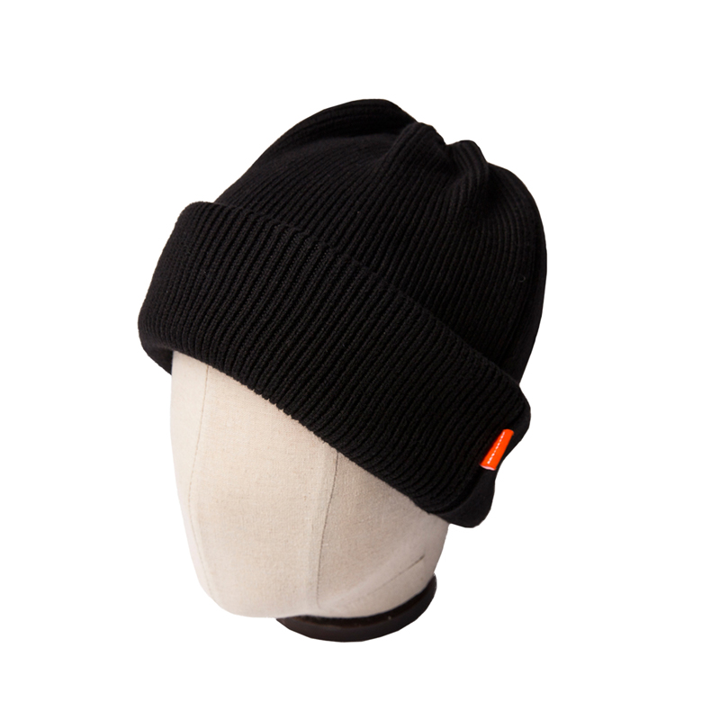 DOUBLE KNIT CAP - BLACK