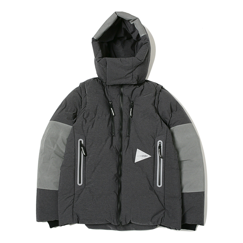 HEATHER RIP DOWN JACKET - CHARCOAL