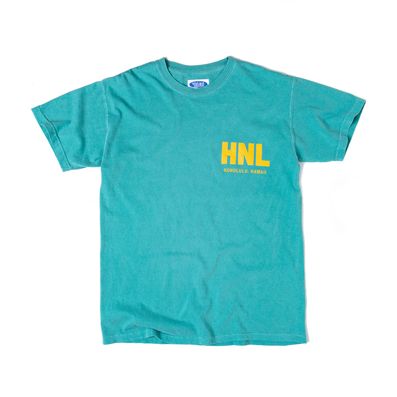 AIRLINES TEE - SEA GREEN