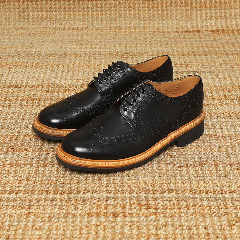 GRENSON WINGTIP - BLACK