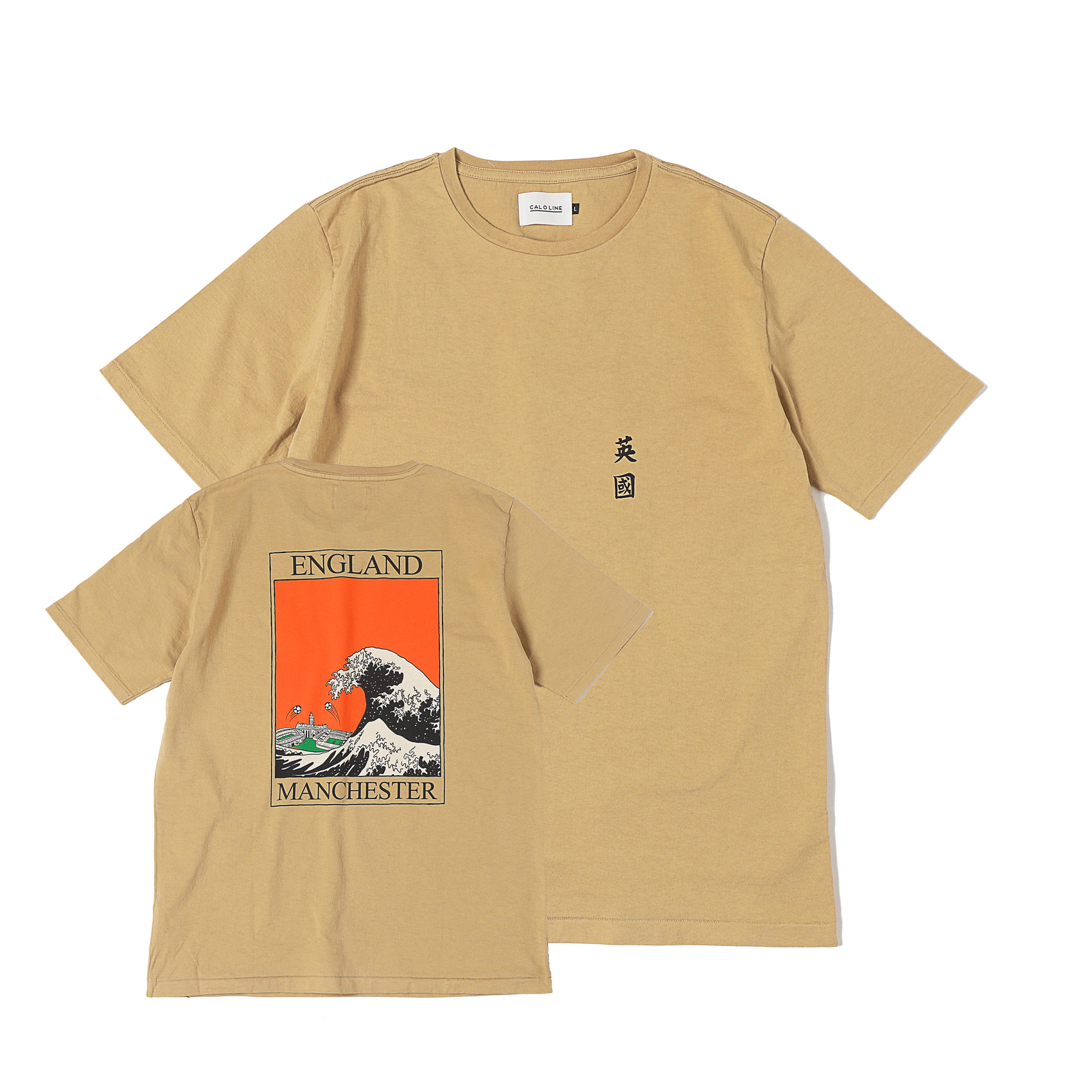 ENGLAND WAVE T-SHIRTS - BEIGE