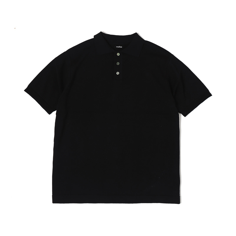 MATURE COTTON POLO - INK BLACK