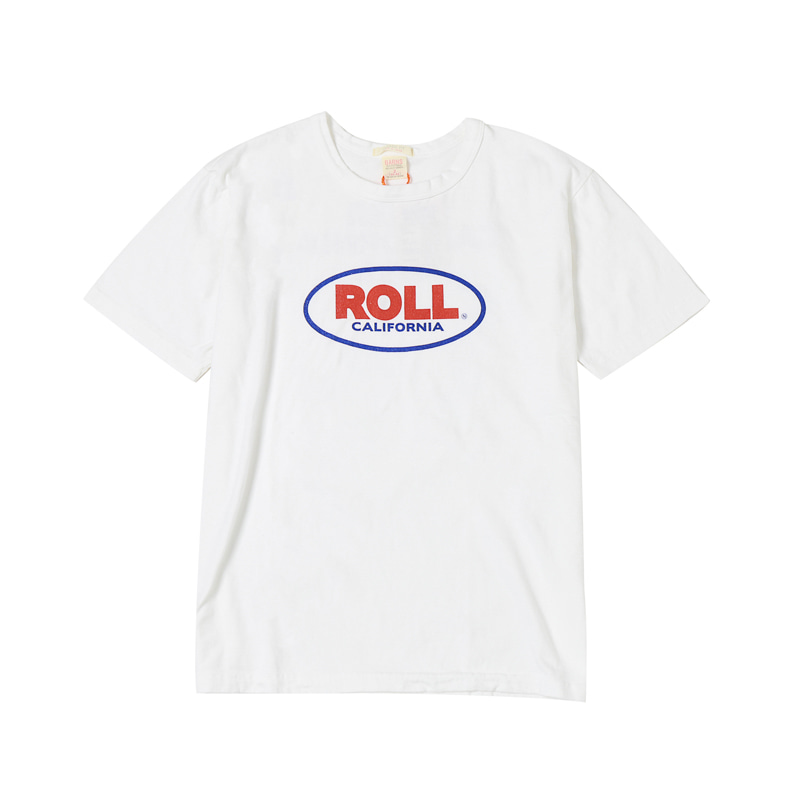 S/S PRINTED TEE - ROLL WHT