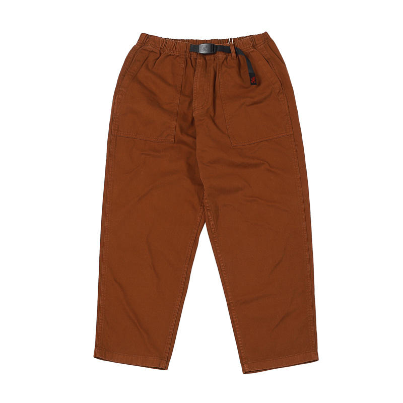LOOSE TAPERED PANTS - BROWN
