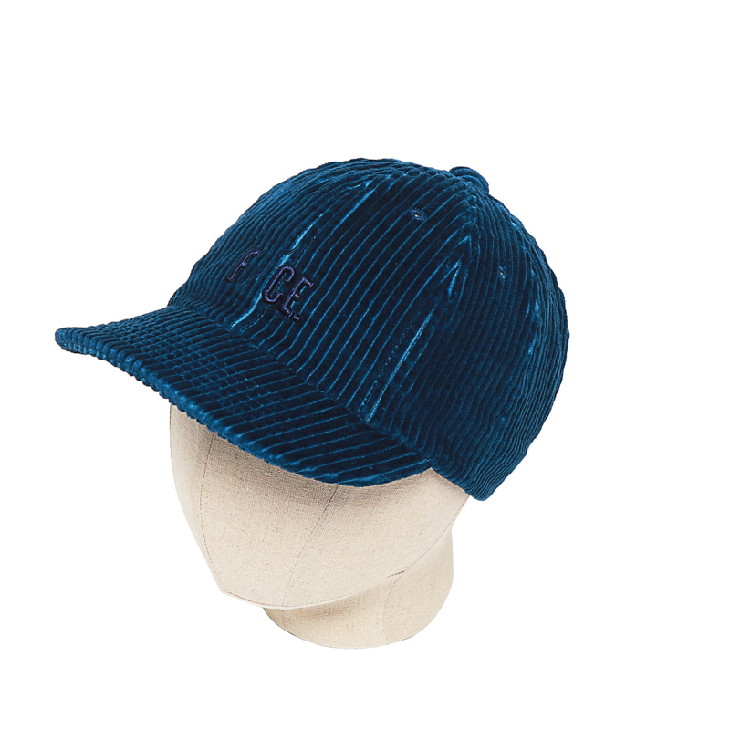 8 PANEL CORDUROY CAP - BLUE