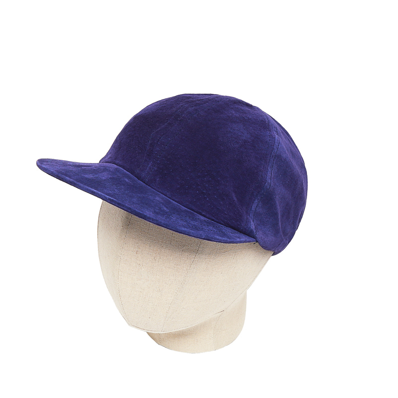 LEATHER FATIGUE CAP - PURPLE