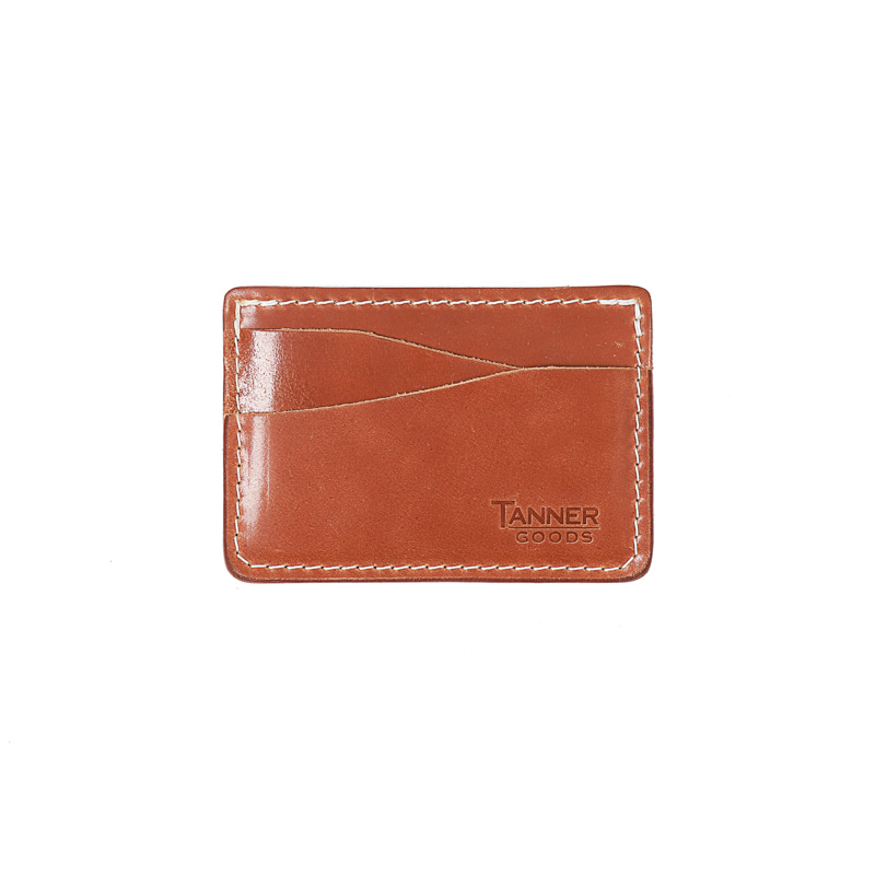 CORDOVAN JOURNEYMAN CARD WALLET - NATURAL