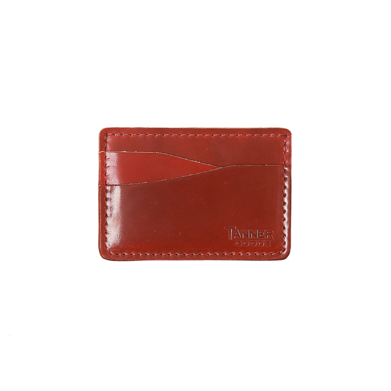 CORDOVAN JOURNEYMAN CARD WALLET - MARION RED