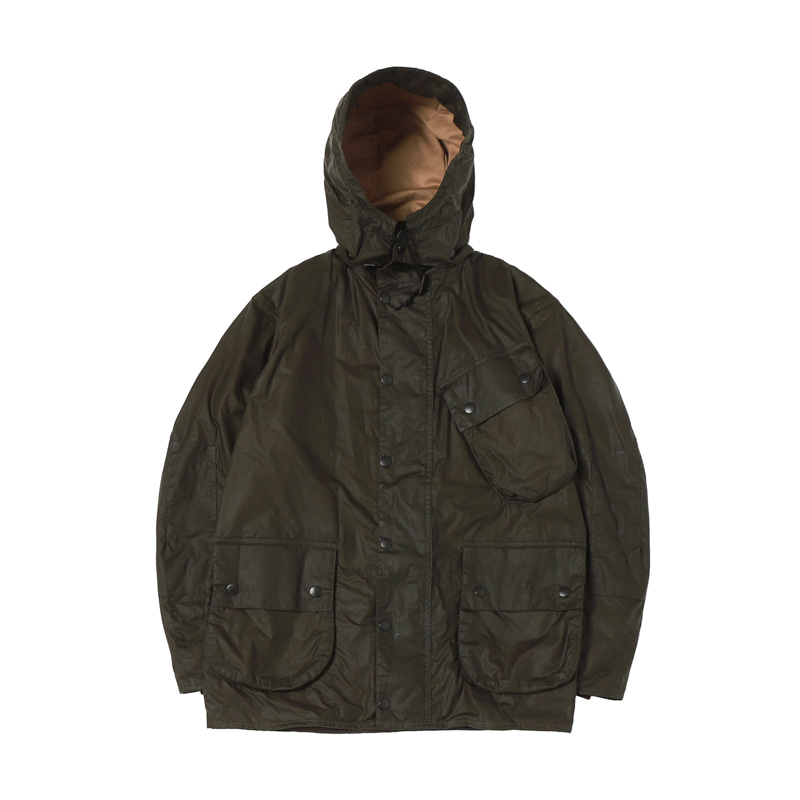 MARGARETT HOWEL A7 WAX JACKET - OLIVE