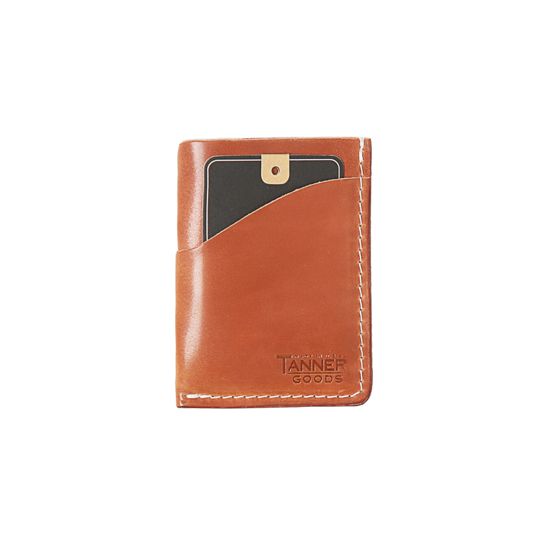 CORDOVAN MINIMAL CARD WALLET - NATURAL