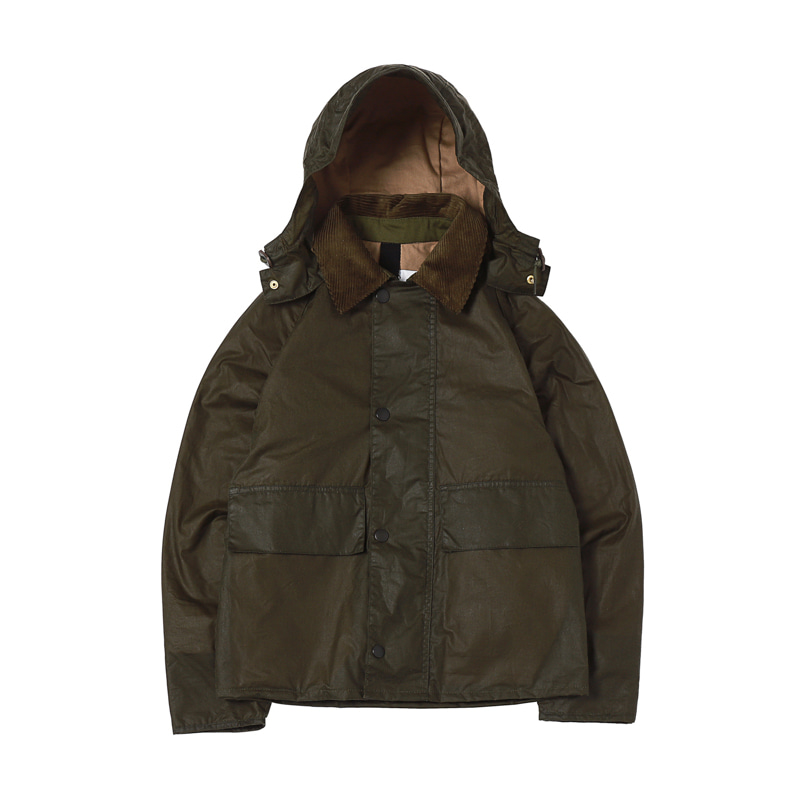MARGARETT HOWEL M-SPEY WAX JACKET - OLIVE