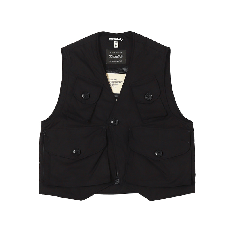 INSULATED MILITARY VEST TYPE C - VANCLOTH OXFORD BLACK