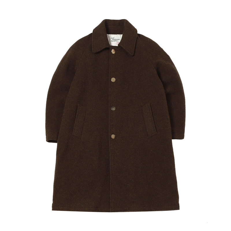 PETER LONG COAT DARK - BROWN