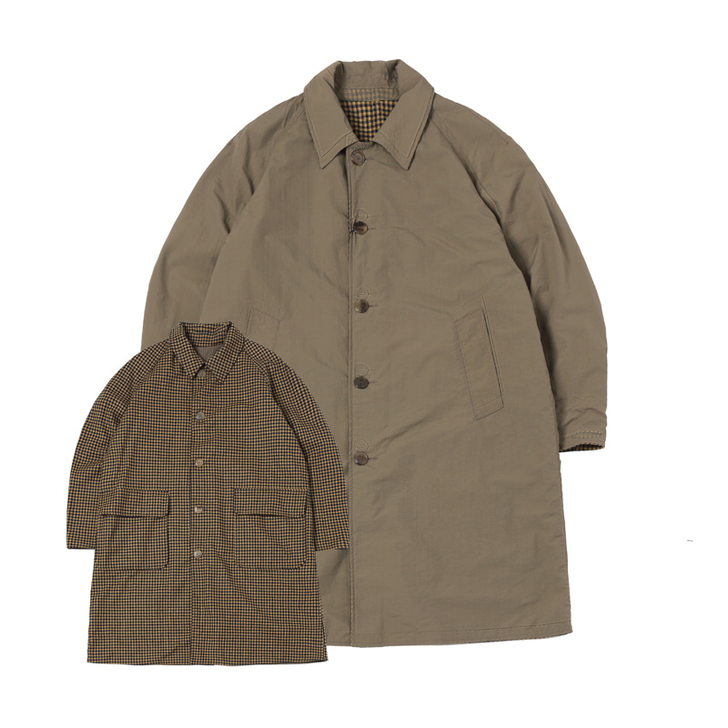 BENSEN REVERSIBLE COAT - OLIVE