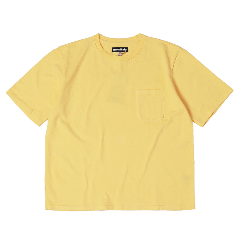 S/S POCKET TEE - LT.YELLOW