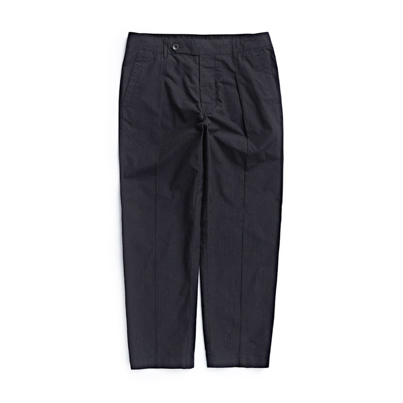 OFFICER PANTS - BLACK PIN STRIPE