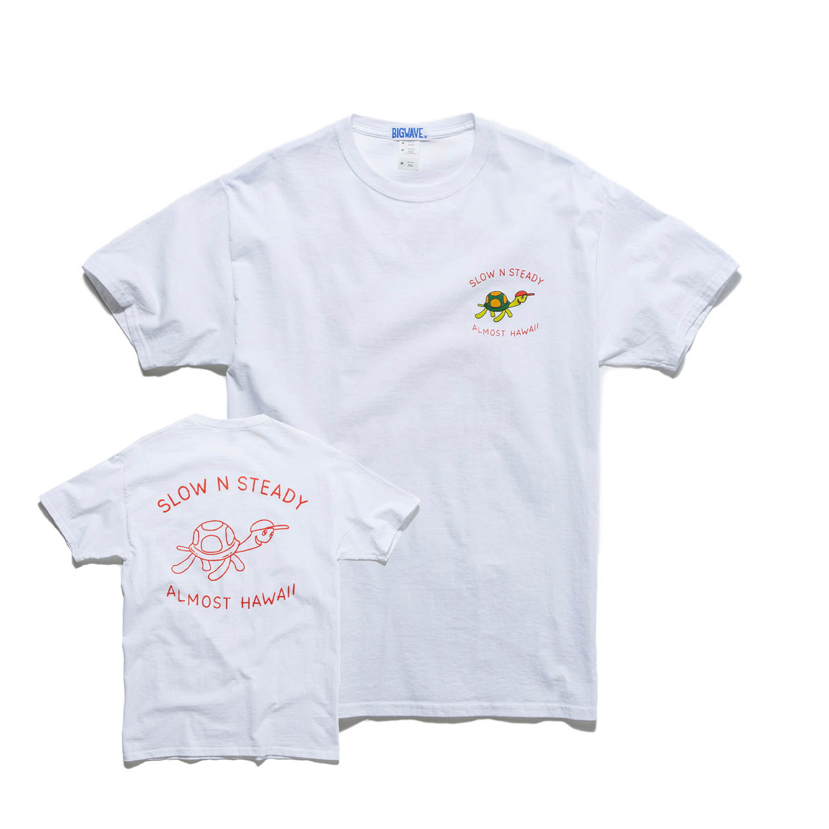 SLOW N STEADY TEE - CLEAN WHITE
