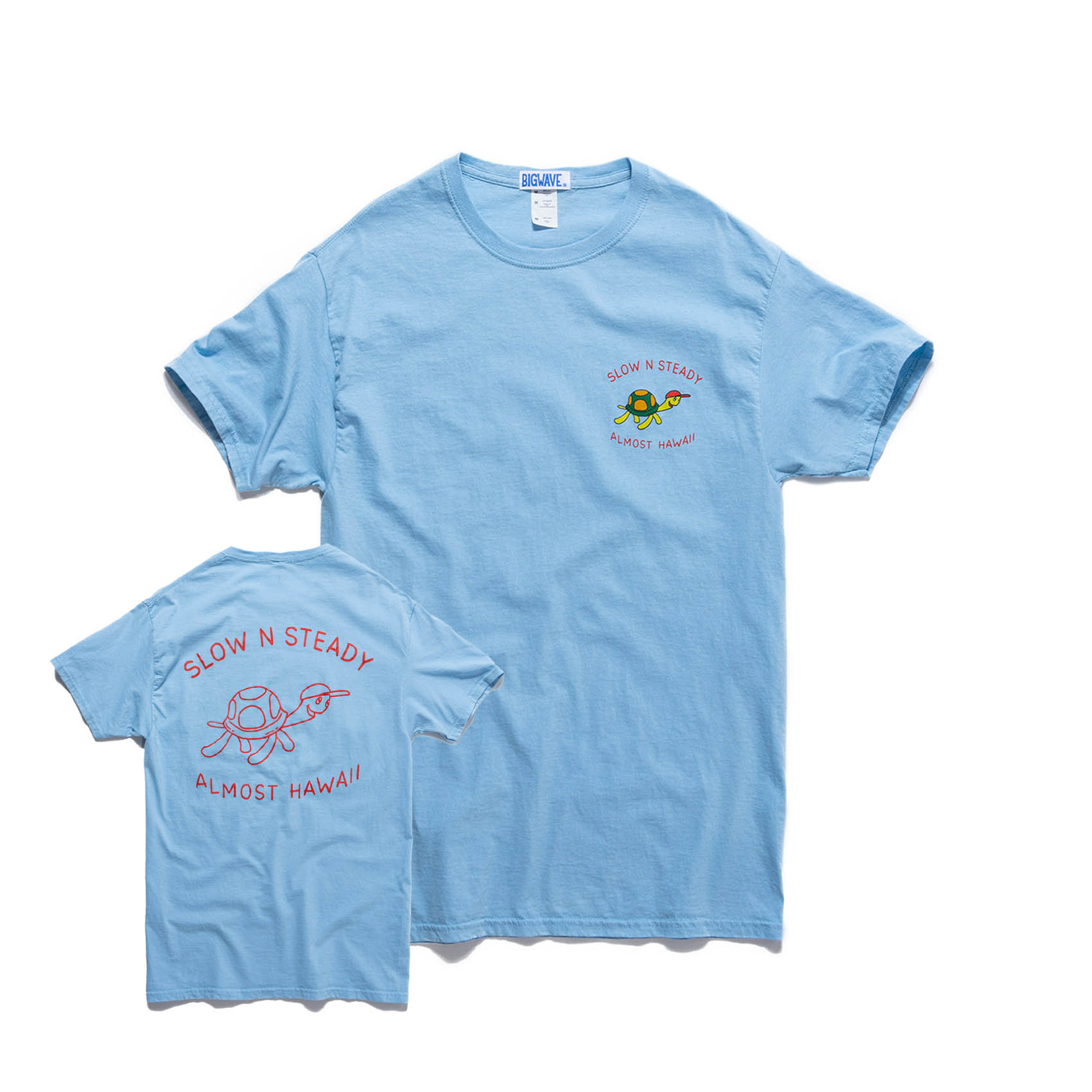 SLOW N STEADY TEE - PACIFIC BLUE