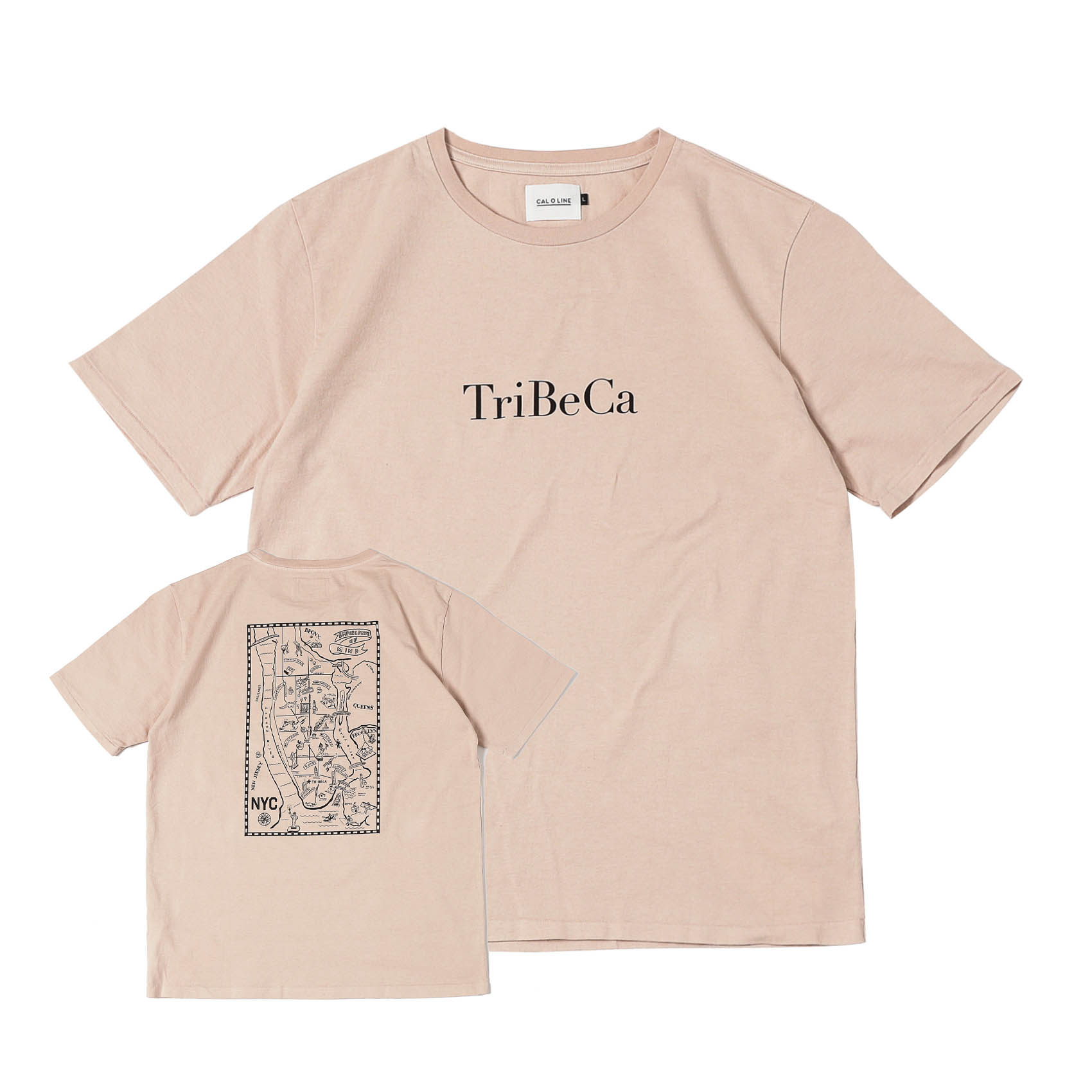 TRIBECA MAP T-SHIRTS - ROSE GRAY