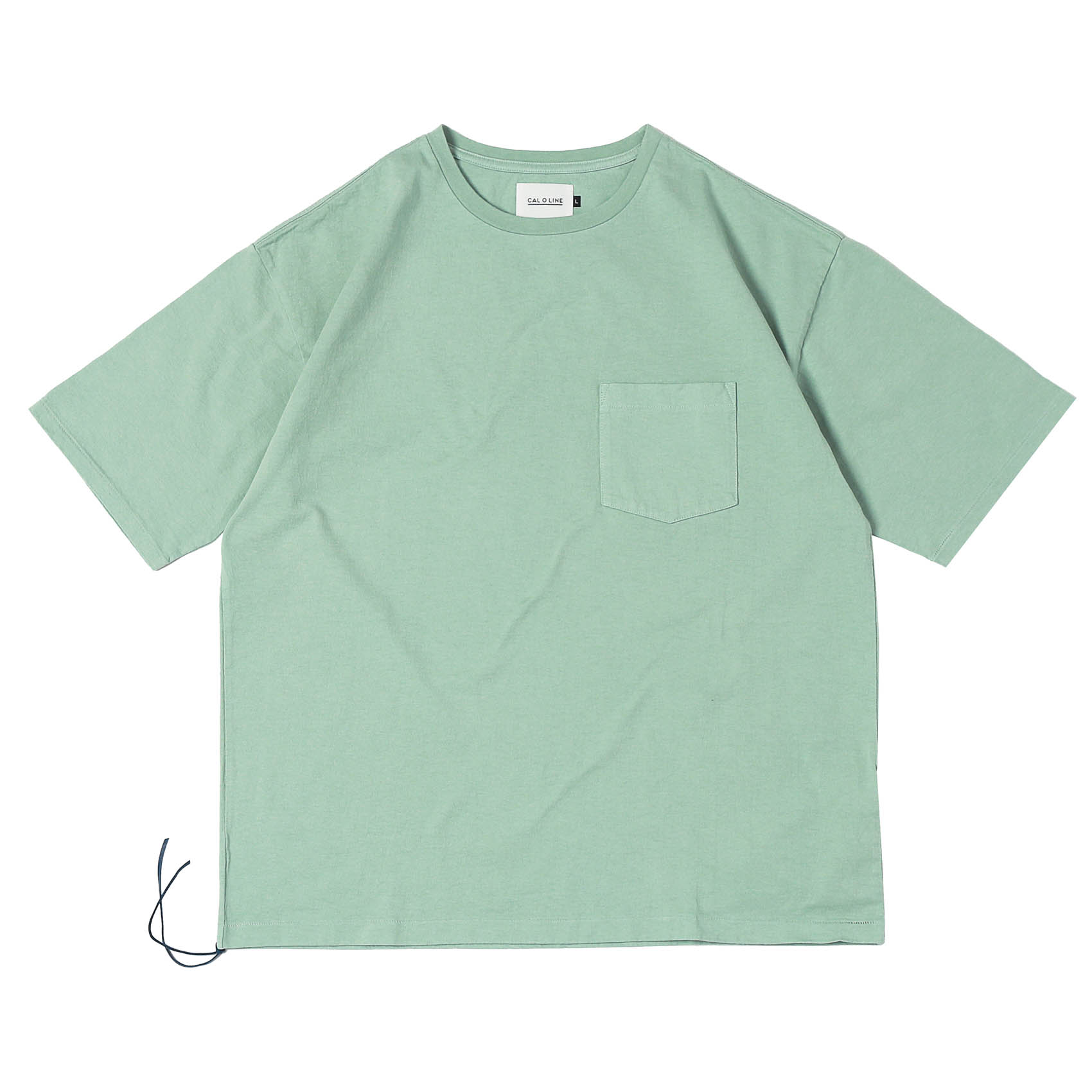 SOLID COLOR POCKET TEE - MINT
