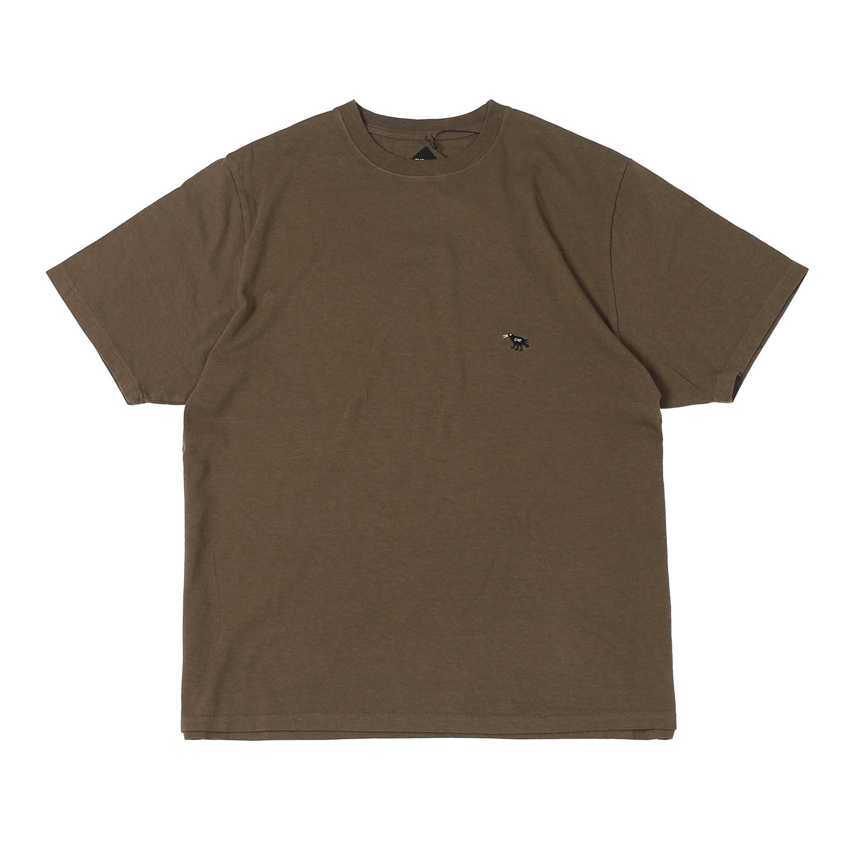 EMBROIDERY CRO TEE - BROWN