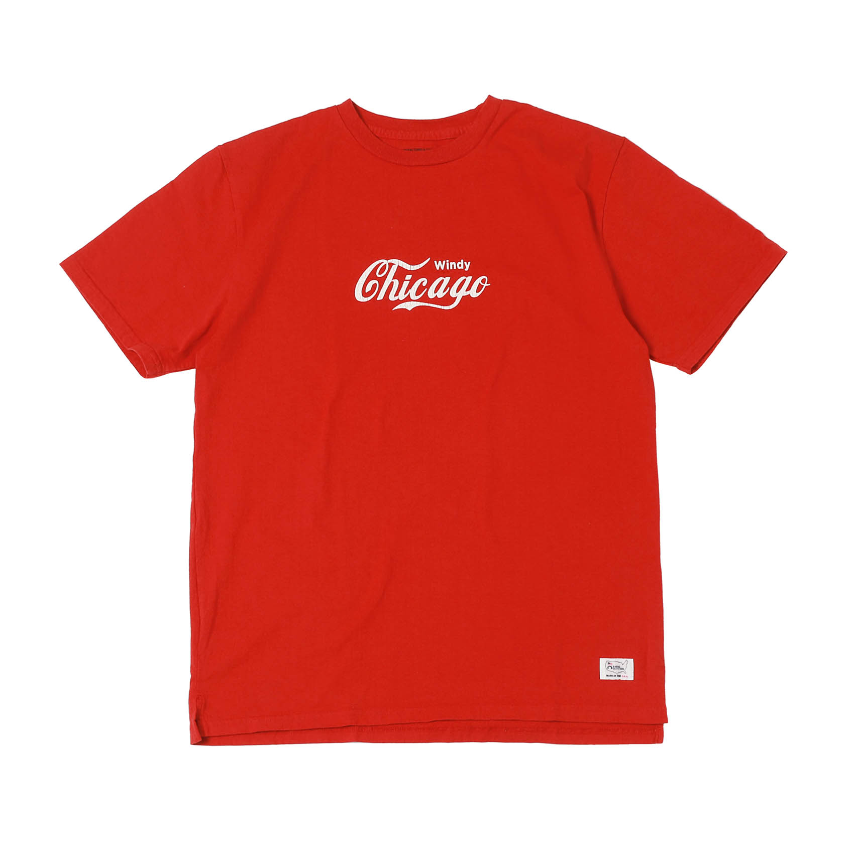 S/S PRINTED TEE - CHICAGO RED