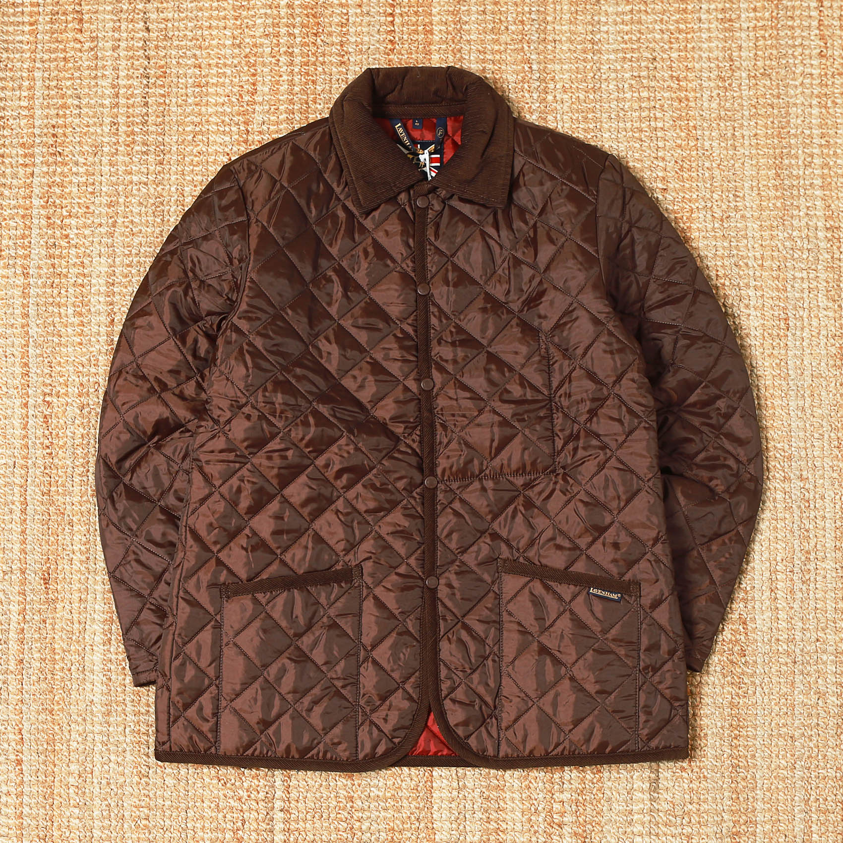 LAVENHAM QUILTED JACKET - BROWN