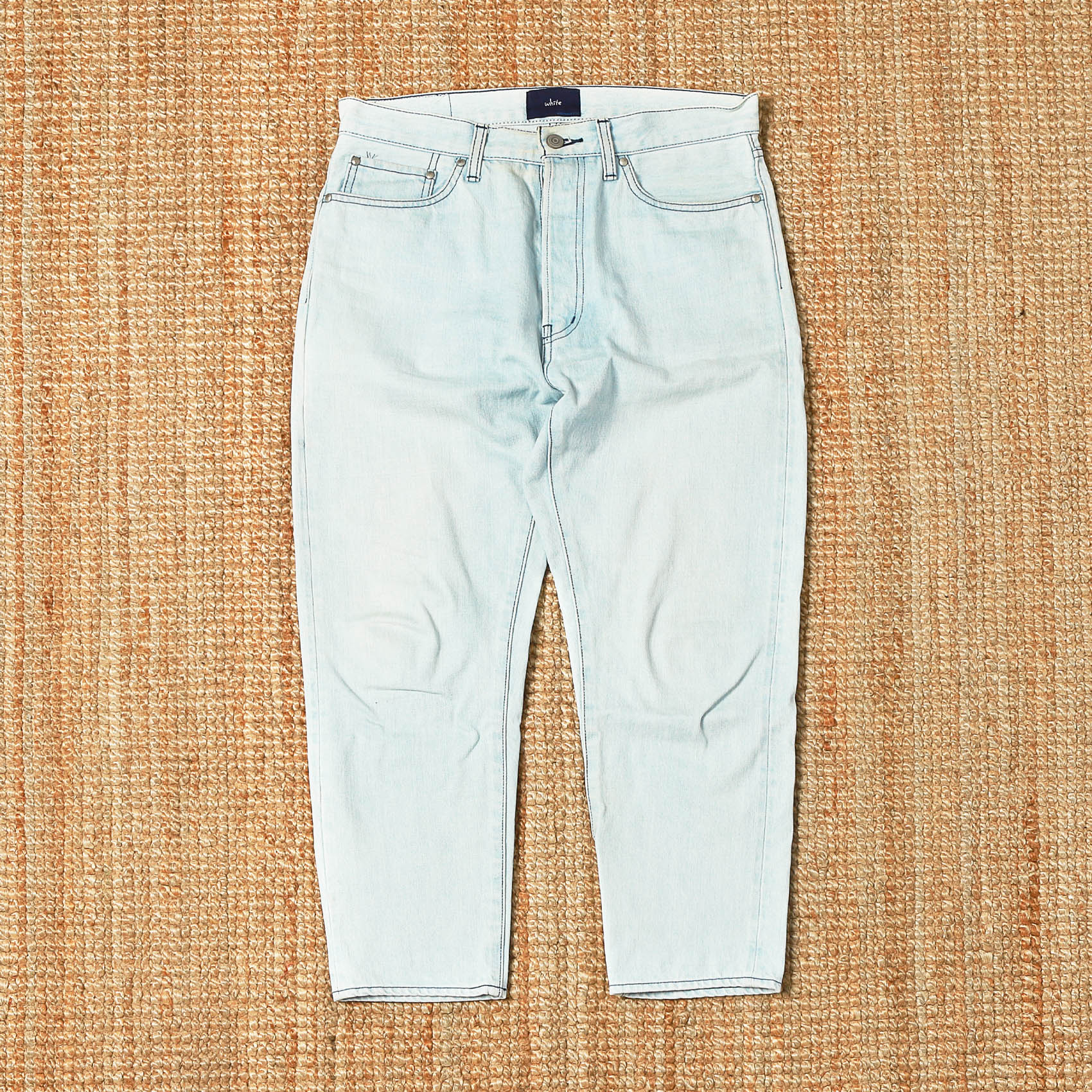 ORDINARY FITS WHITE DENIM JEANS