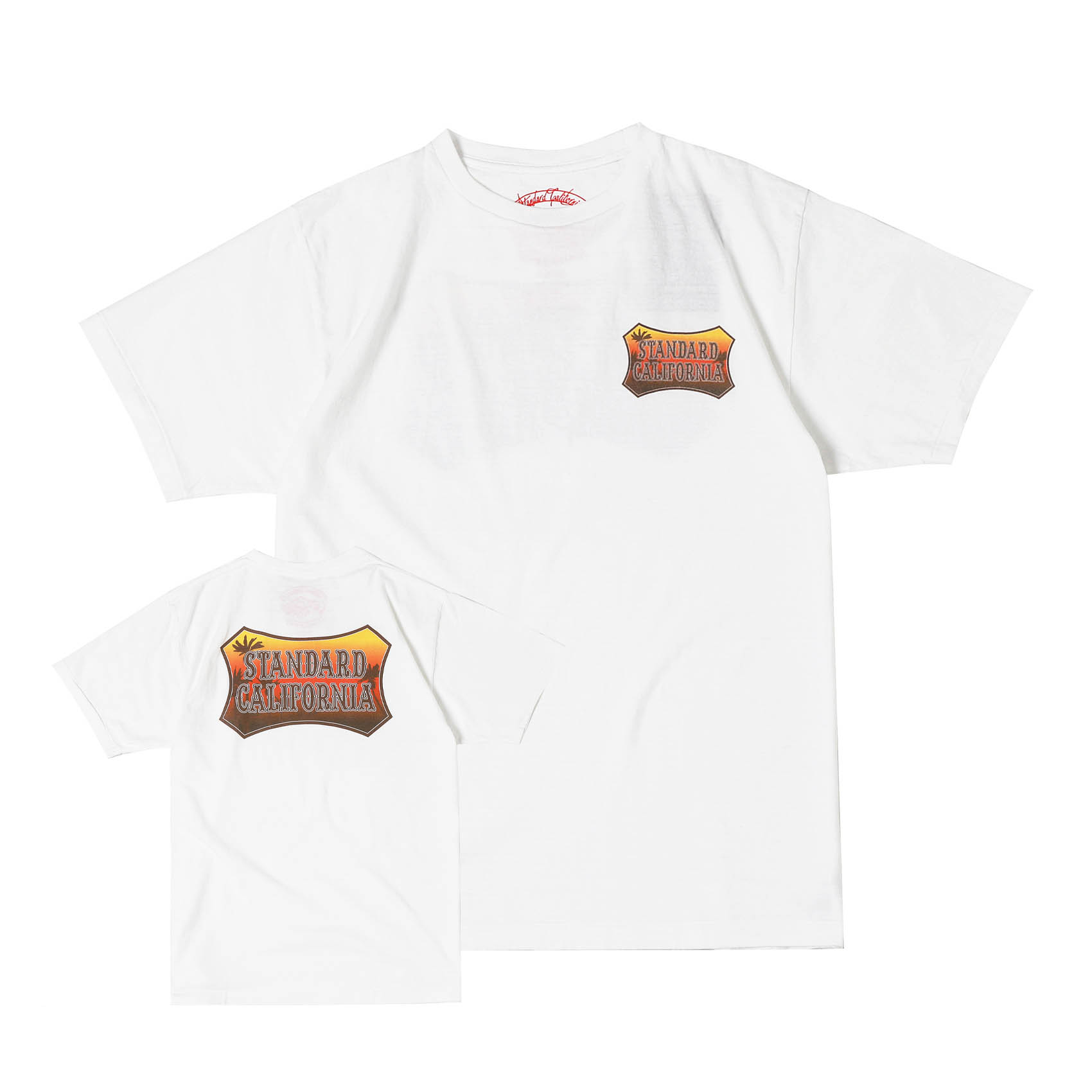 SUNSET SHIELD LOGO TEE - WHITE